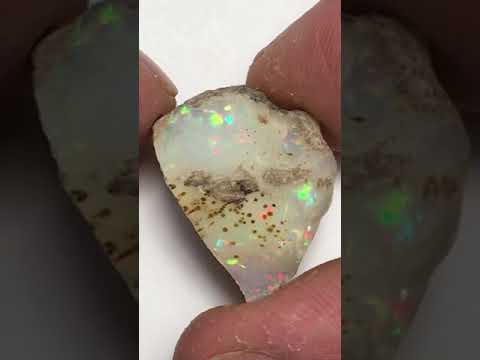 AAA Very Rare Rainbow Prism/Micro Honeycomb Patterns Welo Ethiopia Cutting Grade Opal Rough 5grams