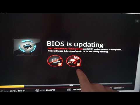 BIOS Update - MSI B350 PC MATE (USB Flash Drive, Media Not Found, FAT32)