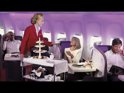 REVIEW Virgin Atlantic 2018 HD Video Upper Class - Food / Drive Through Check-in / Seats