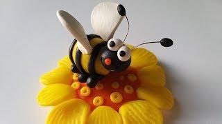 как сделать из мастики пчелку