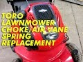 watch he video of Toro Lawnmower Choke/Air Vane Spring Replacement