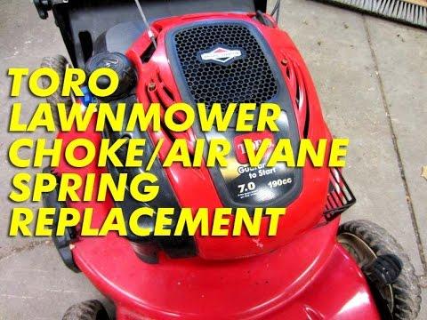 throttle return spring hook up