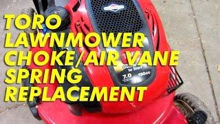 Toro Lawnmower Choke/Air Vane Spring Replacement