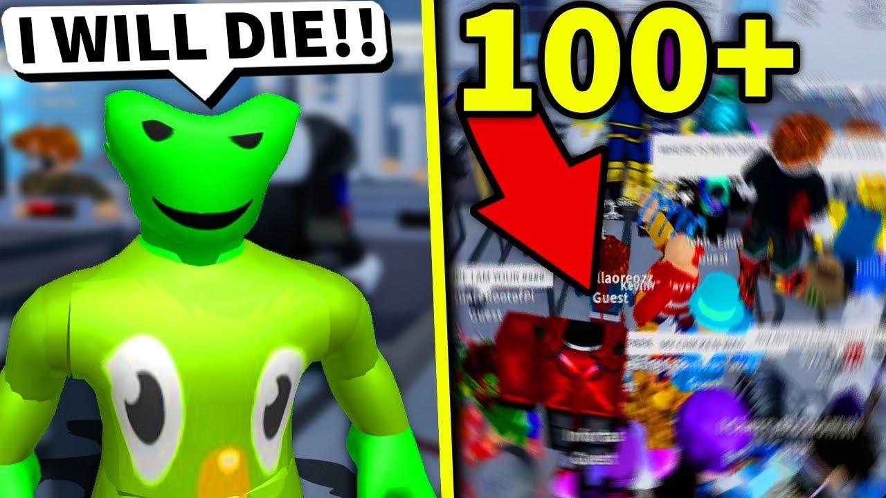 Ich habe 100 Roblox-Spieler, die dieses ROBLOX-KRANKENHAUS rauben sollen + video