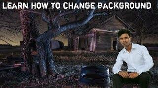 BackGgoud Creat करना सीखे। और फोटो के पीछे दूसरी background add करना।