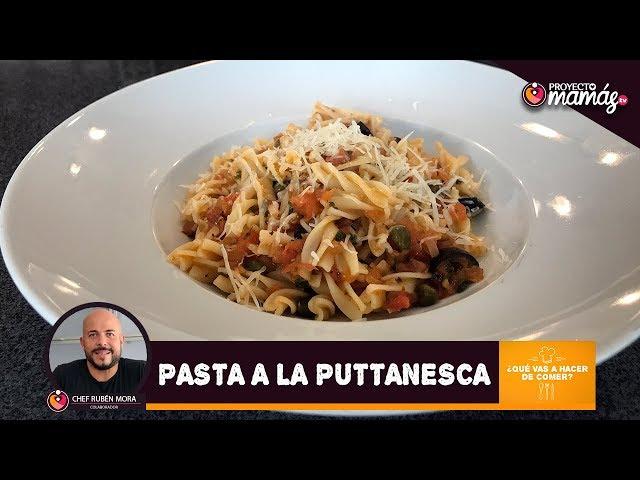 Pasta a la Puttanesca - Chef Ruben Mora