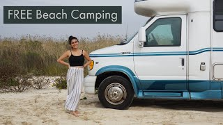Louisiana BEACH CAMPING - Camṗing on the SAND