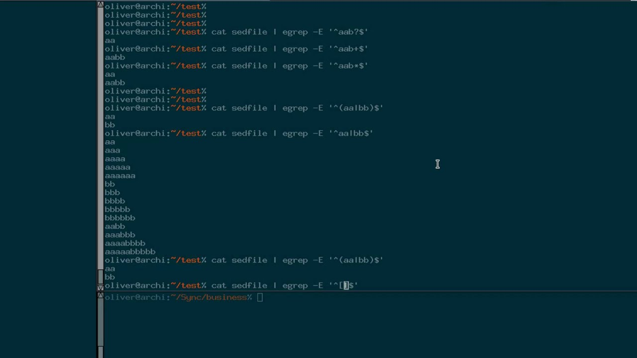 Linux mands Tutorial Regular Expression basics