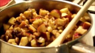 Apple Stuffed Acorn Squash - With Walnuts