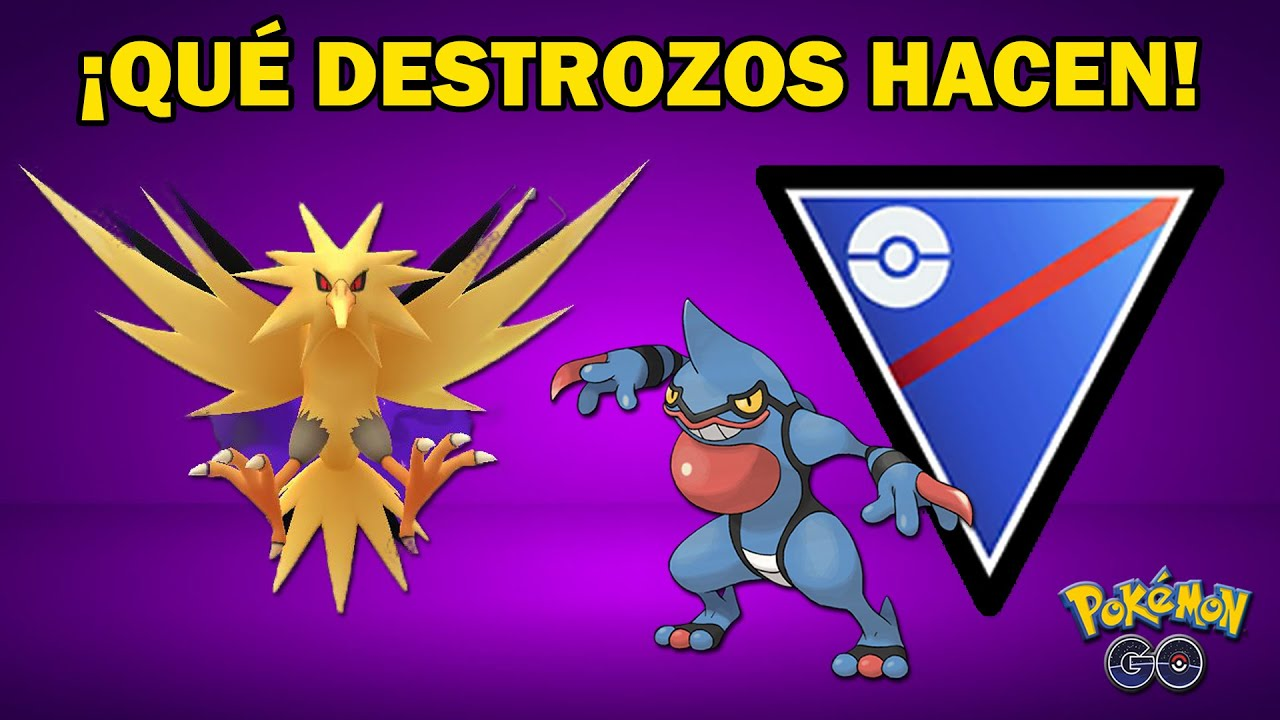 ZAPDOS OSCURO y TOXICROAK JUNTOS SON UNA LOCURA en LIGA 1500 GO BATTLE LEAGUE (PvP) - POKEMON GO