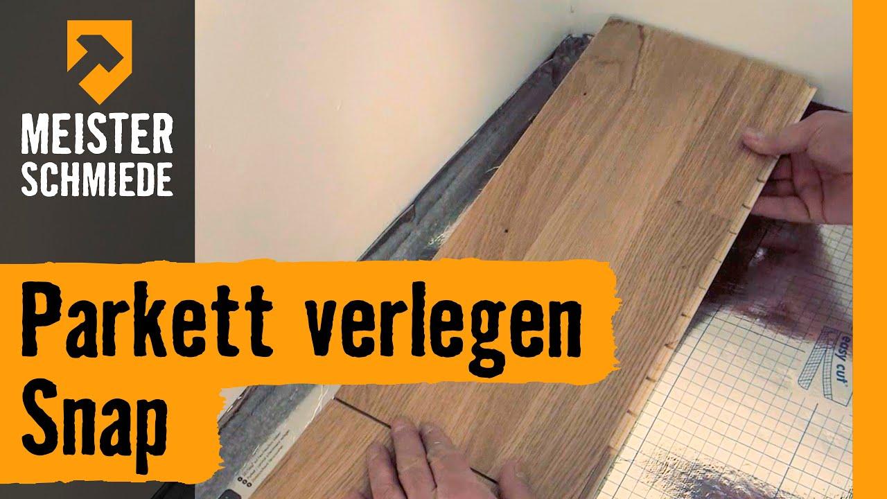 parkett verlegen snap hornbach meisterschmiede youtube. Black Bedroom Furniture Sets. Home Design Ideas