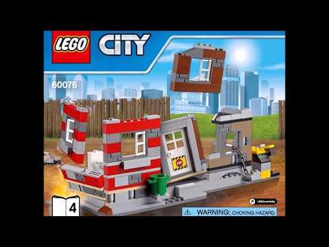 LEGO City Demolition Site 60076 Instructions Book DIY 4