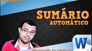 COMO FAZER UM SUMÁRIO AUTOMÁTICO E PAGINAÇÃO NO WORD 2010
