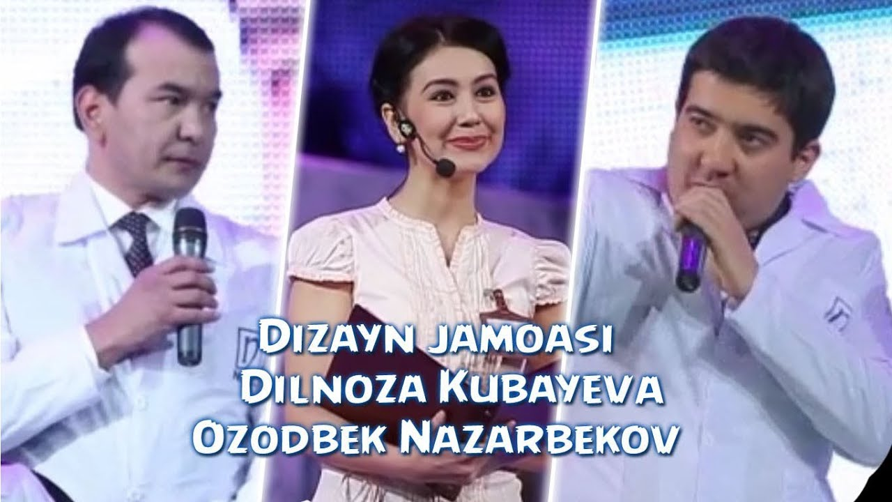Dizayn jamoasi - Dilnoza Kubayeva va Ozodbek Nazarbekov