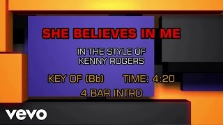 Kenny Rogers - She Believes In Me (Karaoke)