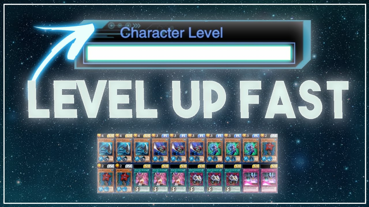 LEVEL UP TO 45 FAST // My Auto Duel Decks for ANY CHARACTER [Yu-Gi-Oh! Duel  Links]