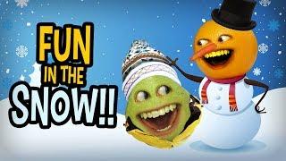 Annoying Orange - Fun in the Snow Supercut