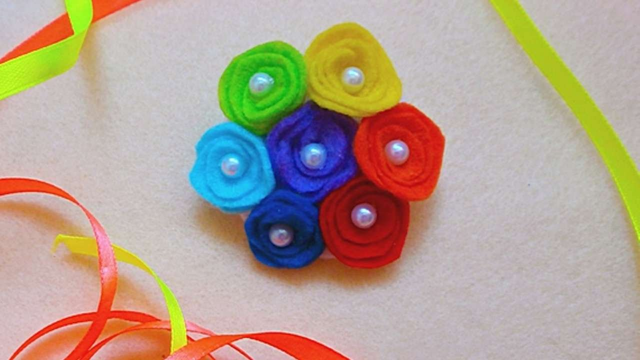 How to make brooch from felt by yourself - a master class