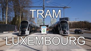 Trams in Luxembourg - Tramway du Luxembourg (2018)