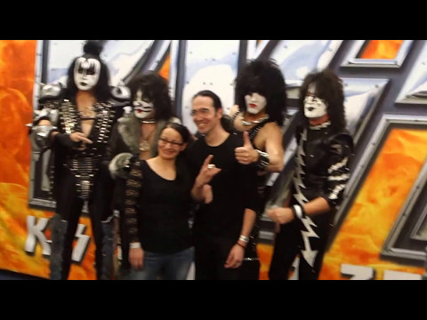 KISS Meet And Greet photo session Helsinki, Hartwall Arena, Finland 4.5.2017