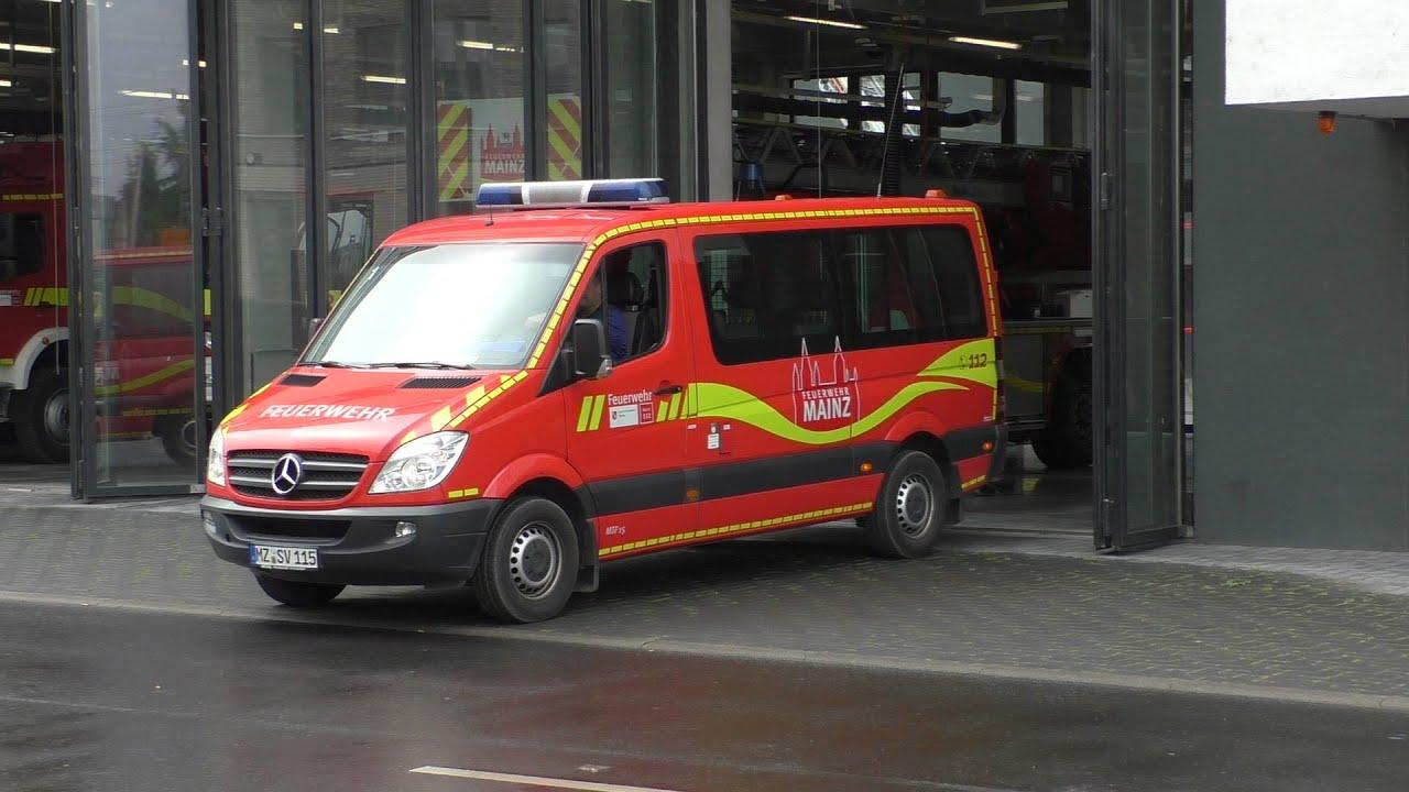 """[""""Neues"""" TLF] Einsatzfahrten Feuerwehr Mainz Fw 1 und 2"""