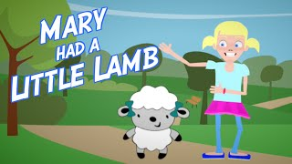 MARY HAD A LITTLE LAMB Song [Nursery Rhyme/Preschool Song] | Preschool Kids TV