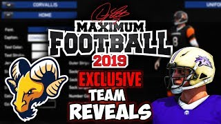 CFB Game with INSANE Customization! | EXCLUSIVE Team Reveal for Maximum Football 19