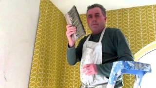 Orla kiely wallpaper installation tutorial