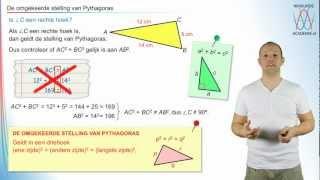 Pythagoras - De omgekeerde stelling van Pythagoras - WiskundeAcademie