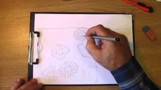 Как рисовать цветы полевые. Часть 1. Урок 23