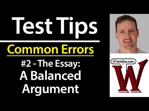 IELTS TOEFL Common Error #2: A Balanced Argument
