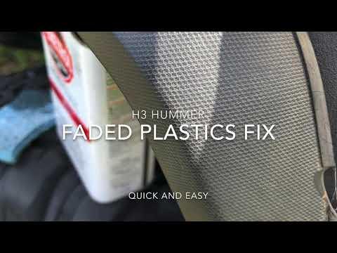 H3 Hummer faded plastics FIX DIY