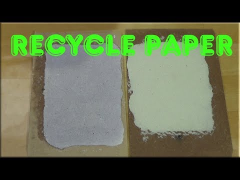 Papermaking at home - Recycle paper