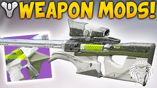 Destiny 2: WEAPON MODS & ATTACHMENTS! Akimbo Rumor, Faction Skins, Veist Foundry & New Swords