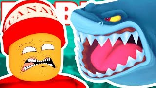 Was SWALLOWED by a MEGALODON → Roblox funny moments #141 😂🎮