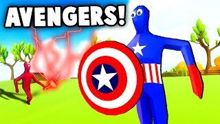 AVENGERS IN TABS! Thor, Captain America and more! (Totally Accurate Battle Simulator Update)