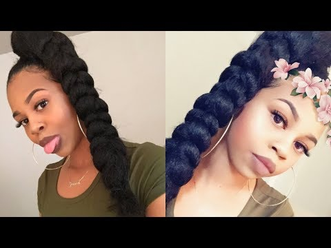 jumbo braid high ponytail w braiding hair crystyle beauty youtube