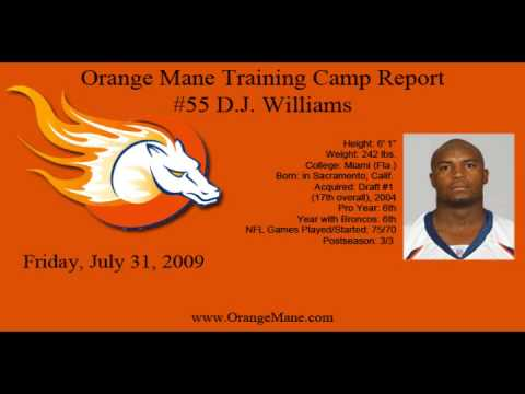 OrangeMane.com Training Camp Audio: D.J. Williams