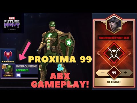 T3 Captain America (Hydra Supreme) Is INSANE!! Proxima 99! & ABX Destruction CTP-Marvel Future Fight