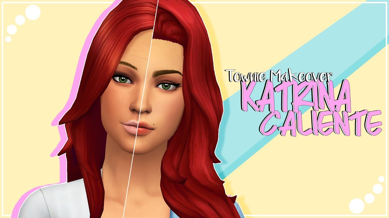 THE SIMS 4 | Townie Makeover | Katrina Caliente + CC list & sim download