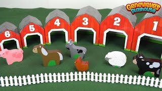 Best Preschool Learning Toys for Kids: Educational Farm Toy Teaches Kids Animal Names and Counting!