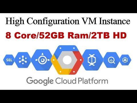 Google Cloud Platform Free Trial High Configuration Server !!