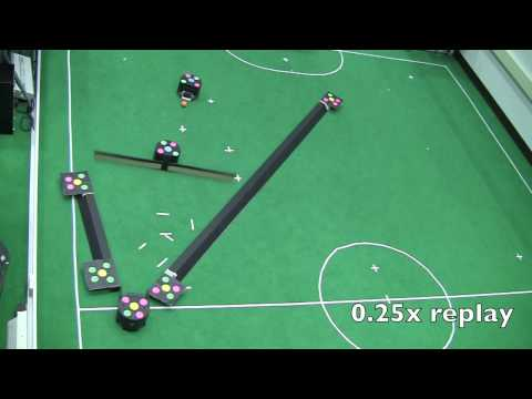 Robot Minigolf in Challenging Course Configurations via Physics-Based Planning