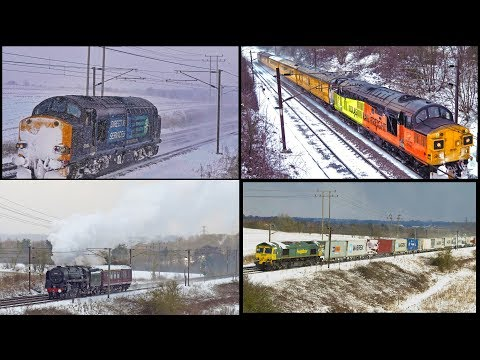 Snowy Trains on the Great Eastern: Oliver Cromwell, Class 37s & More! 28/02/18