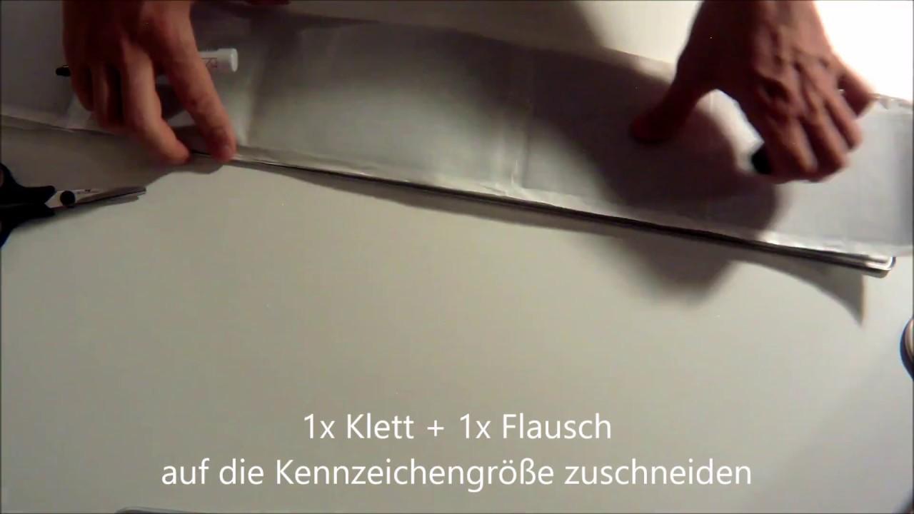 Rahmenlose Kennzeichenhalter DIY - license plate holder DIY - YouTube