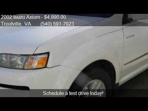 2002 isuzu axiom xs 4wd 4dr suv for sale in troutville va. Black Bedroom Furniture Sets. Home Design Ideas