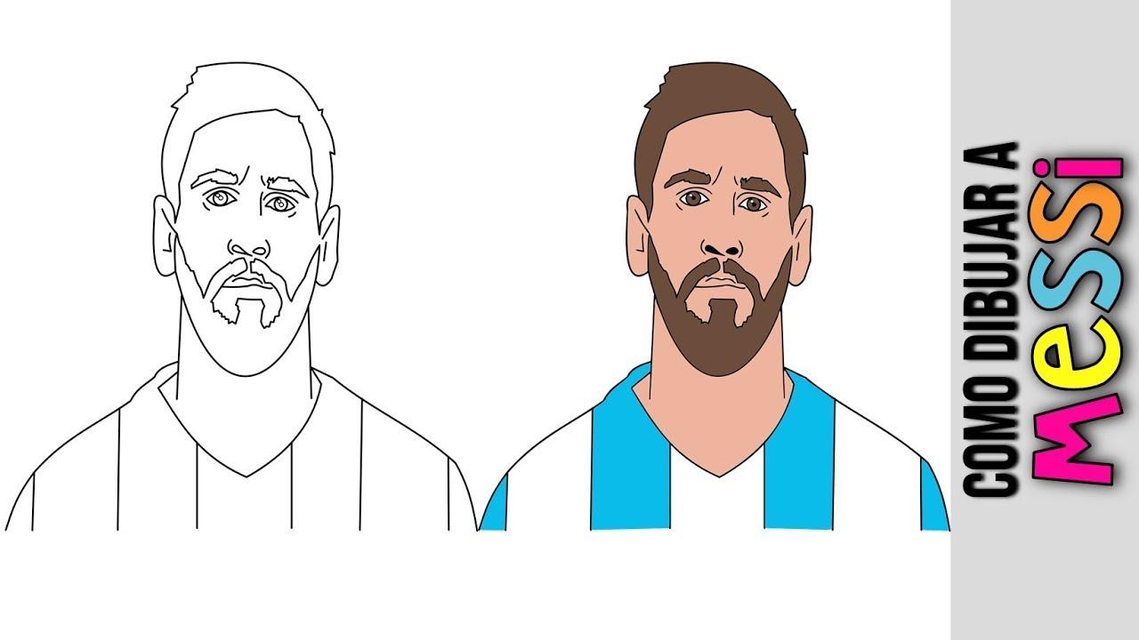 Lionel Messi Como Dibujar A Lionel Messi Dibujos Animados Dibujos Faciles Caricaturas Youtube