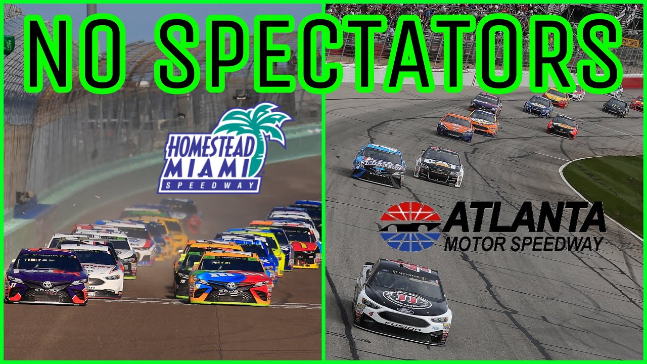 NASCAR to race at Atlanta, Homestead without fans