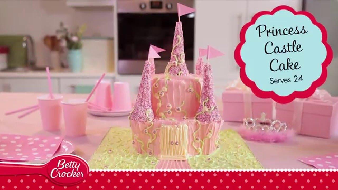 How To Make A Princess Castle Cake Betty Crocker Youtube