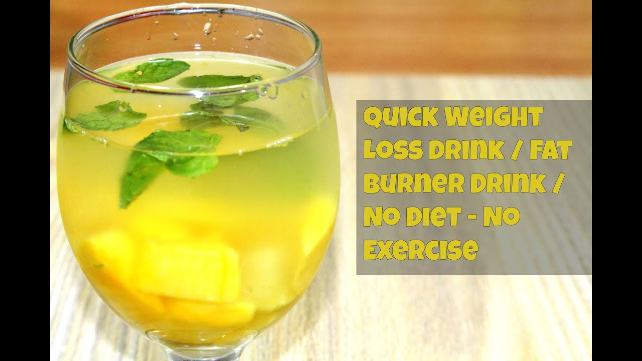 Diy Drink Weight Loss Lose Weight In A Week Homemade Fat Cutter Drink